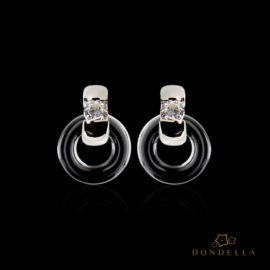 Dondella ceramic jewelry and earrings, sterling silver jewellery and sterling silver earrings. Fashion earrings for women.