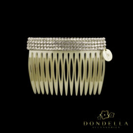 Dondella leather comb with swarovski crystals. Great gift idea.