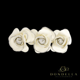 Dondella leather hairclip with swarovski crystals. Great gift idea.