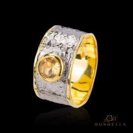 Dondella jewelry and rings, sterling silver jewellery and handcrafted rings, Citrine. Great gift idea.
