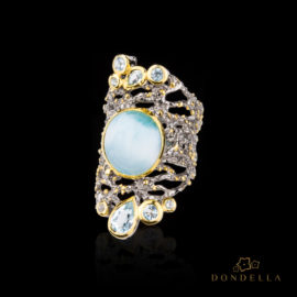 Dondella jewelry and rings, sterling silver jewellery and handcrafted rings, Larimar and topaz. Great gift idea.