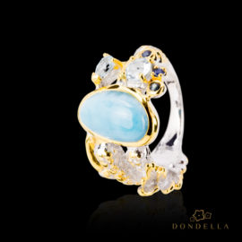 Dondella jewelry and rings, sterling silver jewellery and handcrafted rings, Larimar, topaz and sapphire. Great gift idea.