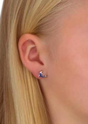 Dondella sterling silver earrings Dolphin