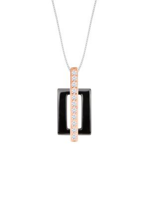 Dondella ceramic and sterling silver pendant